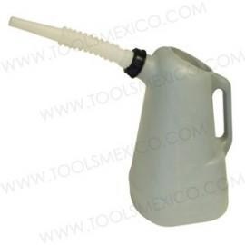 Dispensadores de aceite de 6 litros, pico blanco.