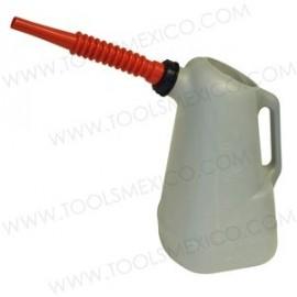 Dispensadores de aceite de 6 litros, pico rojo.