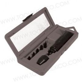 Kit de desarmador de impacto con puntas.
