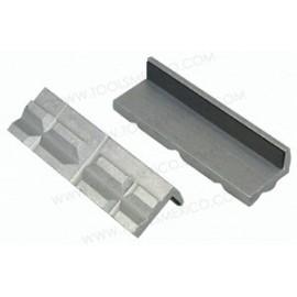 Almohadillas de aluminio para mordazas de tornillo.