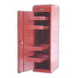 Gabinete uso mega pesado con baleros de 4 entrepaños (fijo).