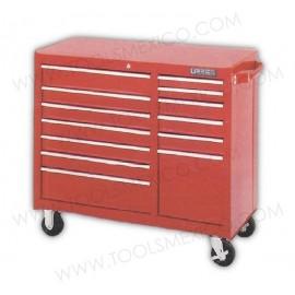 Gabinete uso extra pesado con baleros de 13 gavetas (móvil).