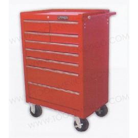 Gabinete uso extra pesado de 9 gavetas (móvil).