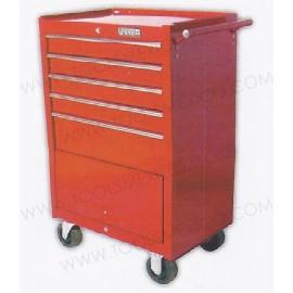 Gabinete uso extra pesado de 5 gavetas (móvil).