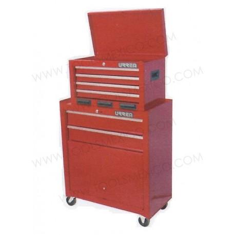 Gabinetes integrados uso industrial de 6 gavetas (móvil).