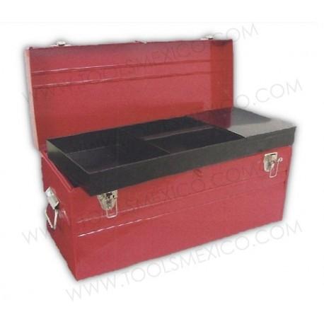 Caja portaherramientas metálica de 60,4 x 25,4 x 28,2 cm.