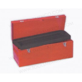 Caja portaherramientas metálica de 62.5 x 24.5 x 24.5 cm.