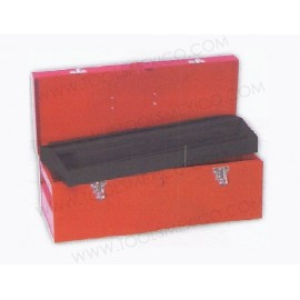 Caja portaherramientas metálica de 51 x 20 x 20 cm.