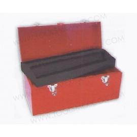 Caja portaherramientas metálica de 41 x 18.5 x 19 cm.