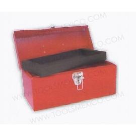 Caja portaherramientas metálica de 36 x 16 x 17.5 cm.