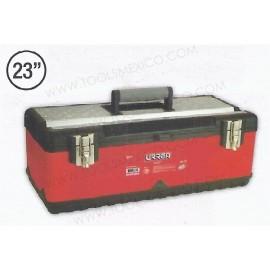 Caja portaherramientas metálica  uso ligero de 58 x 28 x 22 cm.