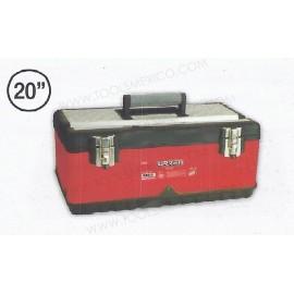 Caja portaherramientas metálica  uso ligero de 51 x 28 x 22 cm.