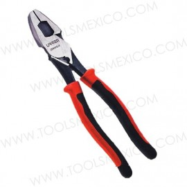 Pinza bimaterial para electricista corte lateral alta palanca.