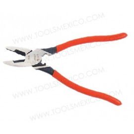 Pinza para electricista corte lateral alta palanca c/ poncha terminales.