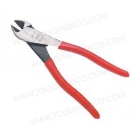 Pinza para electricista corte diagonal, alta palanca.
