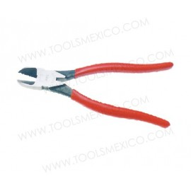 Pinza para electricista corte diagonal, alta palanca de trabajo pesado.