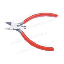 Pinza para electricista corte diagonal con resorte.