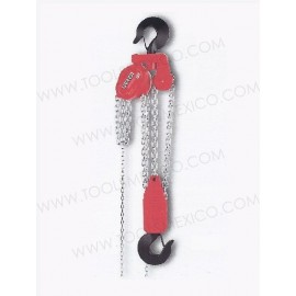 Polipasto manual de 3 ramales con cadena de 3 mts.