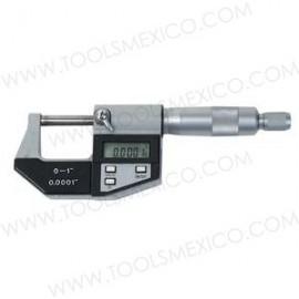 Micrómetro digital rango 0-1'' y 0-25mm.