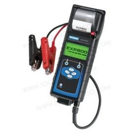 Analizador de diagnóstico de baterías y sistemas eléctricos con impresora integrada.