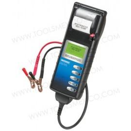 Analizador de baterías y sistema eléctrico con impresora integrada.