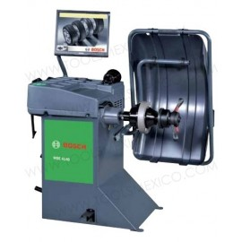 Balanceadora de ruedas WBE 4140 con gabinete compacto.