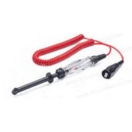 Probador de circuito extra largo y de uso rudo con punta de gancho.
