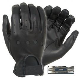 Guantes de piel para conducir (dedo completo).