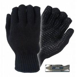 Guantes de tejido acrílico con puntos de agarre de PVC.