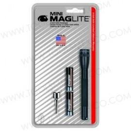 Linterna Ultra Mini-Maglite con Clip P/ Cinturón y 2 Baterías Aaa - Negro.