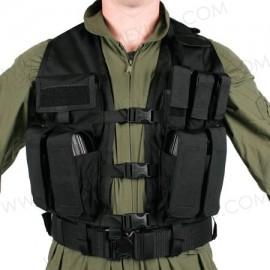 Chaleco táctico porta cargadores arma larga y corta.