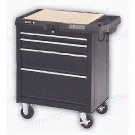 Centro de trabajo uso extra pesado con baleros de 4 gavetas con contacto.