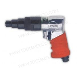Destornillador neumático tipo pistola de clutch ajustable.