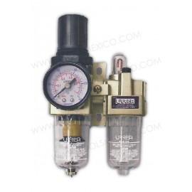Filtro regulador y lubricador de aire.