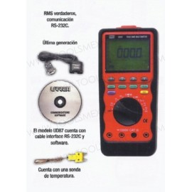 Multímetro de última generación con conexión a pc.