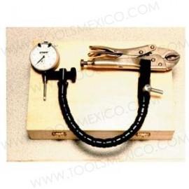 Kit Indicador dial con brazo flexible y pinzas.