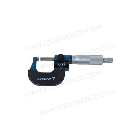 Micrómetro digital de rotor rango 0-1''.