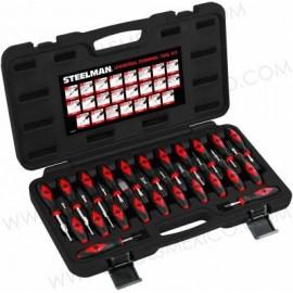 Kit de herramientas de terminal universal de 23 piezas.