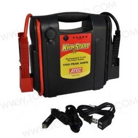 Cargador de batería portable con cargador interno Kwikstart.
