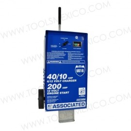 Cargador/analizador con ruedas 40/10Amp, 6/12V.