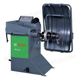Balanceadora de ruedas WBE 4110 con gabinete compacto.