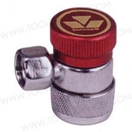 Conector manual de presión alta R134a.