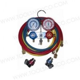 Kit de manómetros de 2 vías de 90° y acopladores.