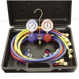 Kit de manómetro dual R134a/R12.