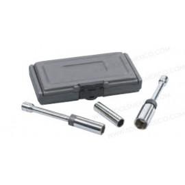 KD Tools® Juego de dados magnéticos para bujías de 3 piezas.