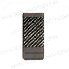 Porta Cargador de Apilamiento Simple, Acabado de Fibra de Carbón.