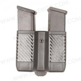 Porta Cargador Doble de Apilamiento Doble, Acabado de Fibra de Carbón.