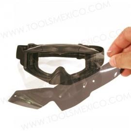 Mica protectora removible para goggles tácticos (10 piezas).